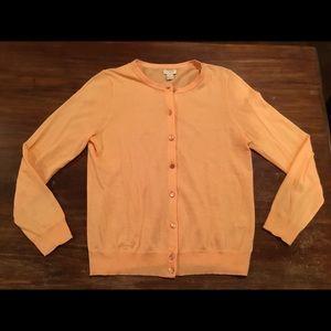 J Crew 🍑 peach Pima cotton wool blend cardigan M